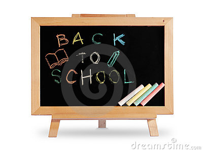 Back to school Blackboard wood frame