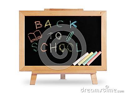 Back to school Blackboard wood frame