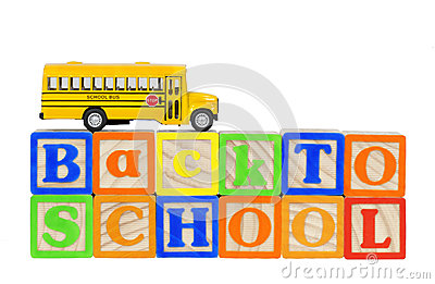 Back to School Bus Blocks