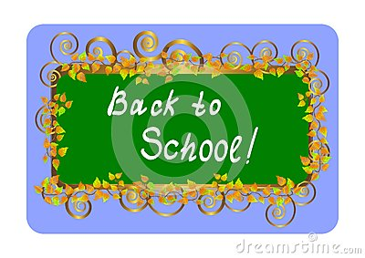 Back to school - card. Vector illustration.