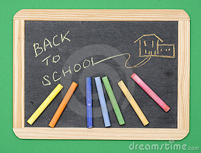 Back to School on chalkboard
