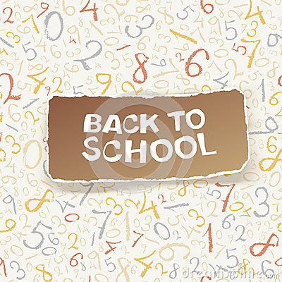 Back to school on chaotic numbers seamless pattern