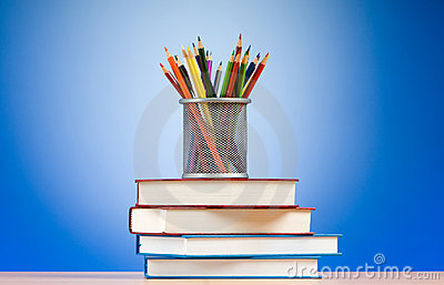 Back to school concept with books