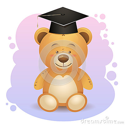 Back to school cute teddy bear toy
