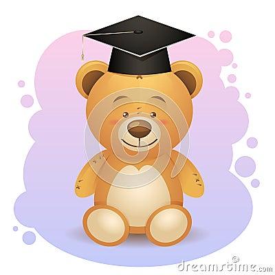 Back to school cute teddy bear toy