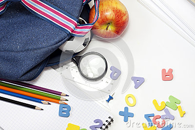 Back to school education background