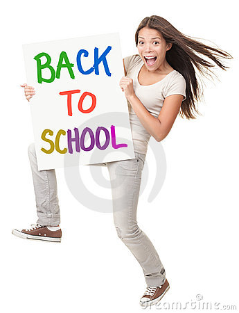 Back to School female student