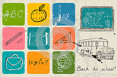 Back to school hand drawing poster.