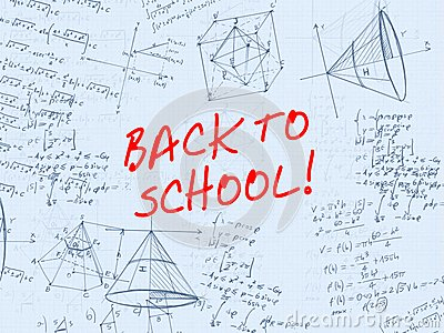 Back to school handwritten background