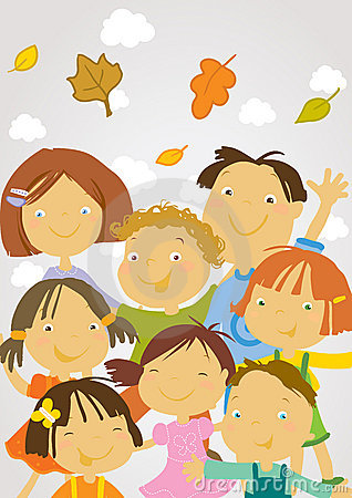 Free Back To School - Happy Children Stock Images - 5819294