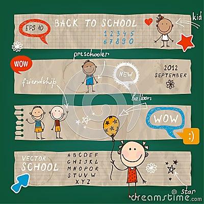 Back To School illustration  set