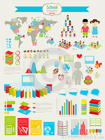 Back to school Infographic set