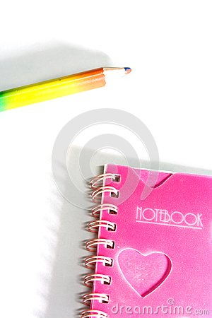 Back to School notebook and pencil