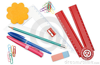 Back to school objects