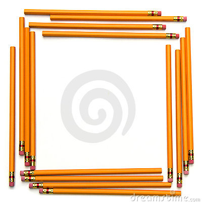 Nature Picture Frames on Square Frame Made Of Unsharpened Number Two Pencils For Back To School