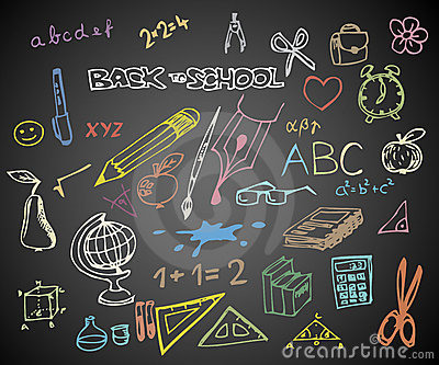 Back to school - school doodle illustrations