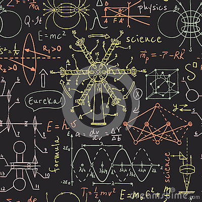 Free Back To School: Science Lab Objects. Doodle Vintage Sketches Style Seamless Pattern. Stock Photo - 62026950