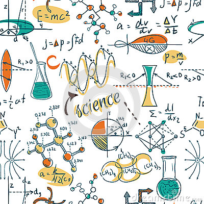 Free Back To School: Science Lab Objects Doodle Vintage Style Sketches Seamless Pattern, Royalty Free Stock Photos - 57575168