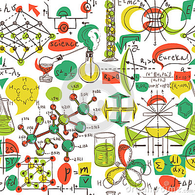 Free Back To School: Science Lab Objects Doodle Vintage Style Sketches Seamless Pattern, Royalty Free Stock Images - 62026899