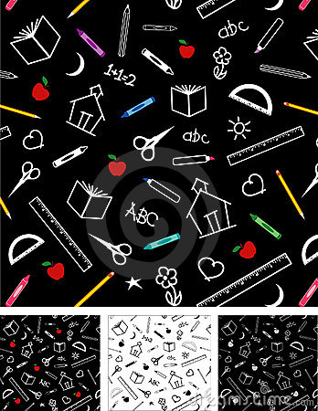 Free Back To School Seamless Tiles Backgrounds Royalty Free Stock Images - 5140759