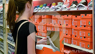 Back To School Shopping Editorial Stock Photo