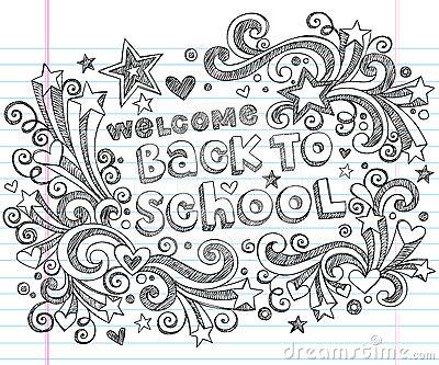 Back to School Sketchy Doodles Vector Design