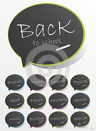 Back To School Speech Bubbles