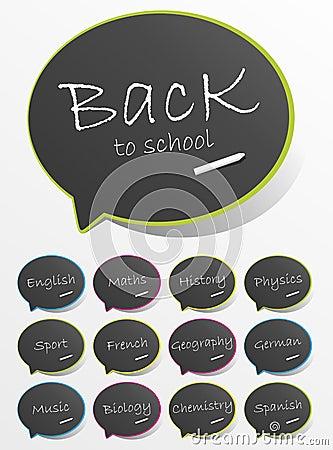 Back To School Speech Bubbles