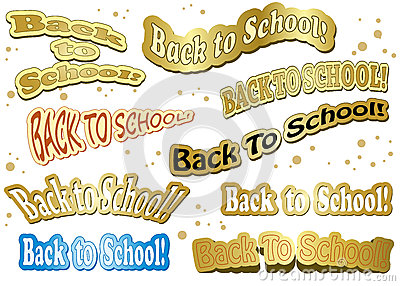 Back to school - stickers - vector