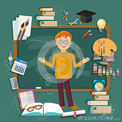 Illustration college subjects students need tutoring in