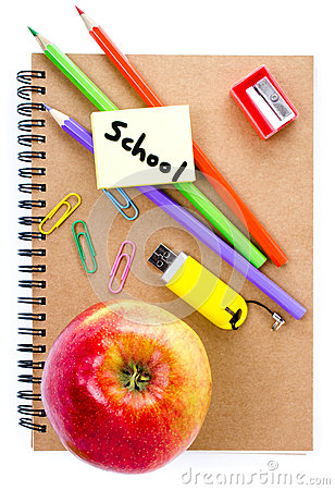 Back to school supplies with Notebook