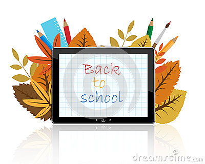 Back to school on tablet