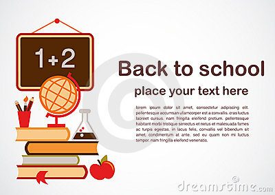Back to school theme, vctor illustration