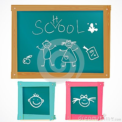 Back to school vector board