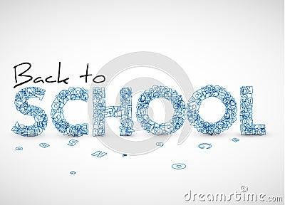 Back to school vector illustration