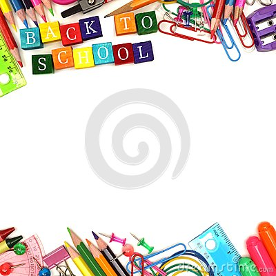Free Back To School Wooden Blocks With Double Border Stock Photos - 56623913