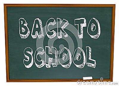 Back to School - Words on Chalkboard