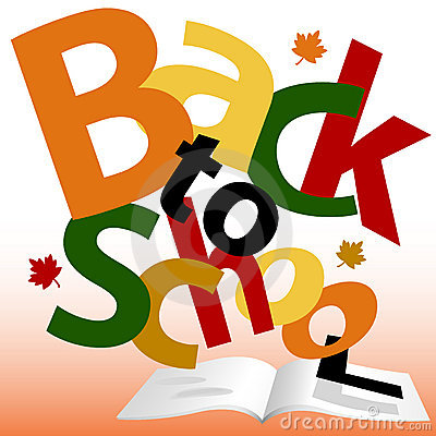 BACK TO SCHOOL words Fall text book pages