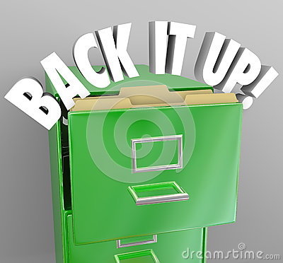 Back It Up Filing Cabinet Storage Important Documents
