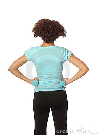 Back veiw of an athlete
