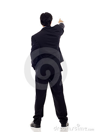 Free Back View Businessman Stock Images - 19382434