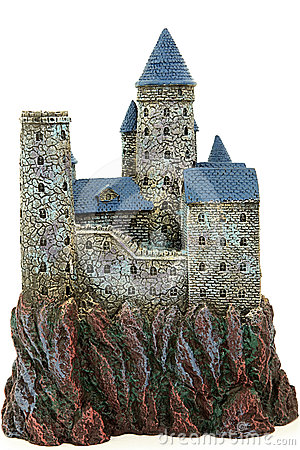 Back View Of Castle Aquarium Ornament