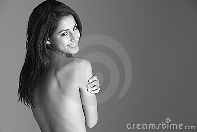 Back View Of Naked Woman