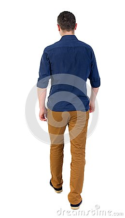 Free Back View Of Going  Handsome Man. Royalty Free Stock Image - 76543276