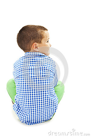 Free Back View Of Little Boy Looking On Side Royalty Free Stock Image - 62515356