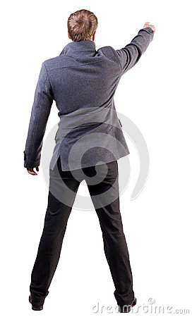 Free Back View Of Pointing Business Man Royalty Free Stock Photo - 29705425