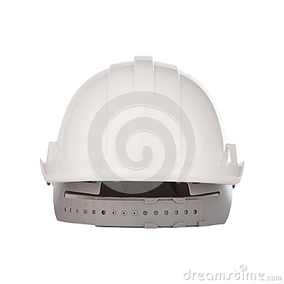 Back  view of safety helmet cap isolated white