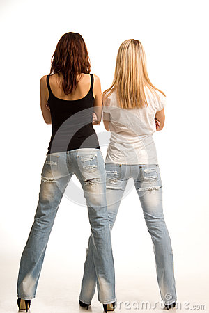 Back view of two girls