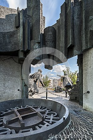 Back of the Warsaw Uprising Monument in Warsaw Editorial Image