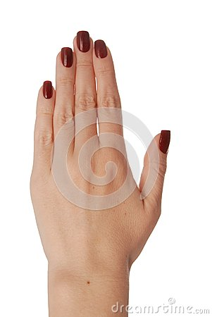A back of the womens hand